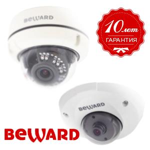 Уличные IP-камеры купольного типа B1710DM и B1710DV (Beward)